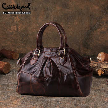 Cobbler Legend Brand Women\'s Ladies Genuine Leather Handbag Shoulder Genuine Leather 2019 New Arrival Women Messenger Bags