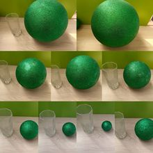 Green Polystyrene Styrofoam Foam Ball Party Wedding festival stage house decoration DIY handmade materials 6-12cm(diameter)