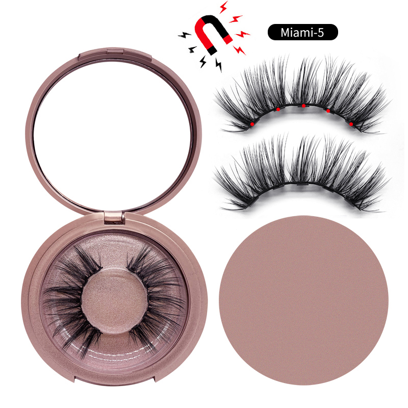 Shozy Magnetic <font><b>eyelashes</b></font> with 5 magnets magnetic lashes winged natural faux mink false <font><b>eyelashes</b></font> magnet lashes-KS02-5 image
