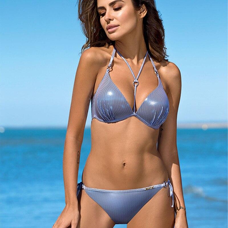 2020 Set Bikini Swimsuit Sexy Thong Swimwear Women Beachwear Brazilian Swimming Push-Up Swimsuit Summer Lady