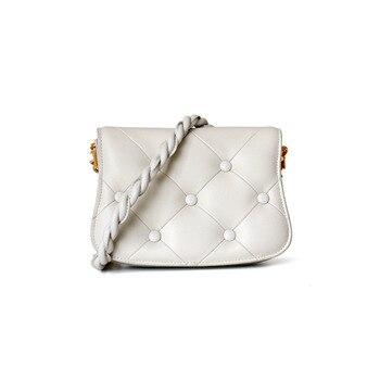 Genuine Leather Saddle Bag Luxury Handbags Women Bags Designer Cute Girl Cow Leather Crossbody Womens Genuine Leather Handbags