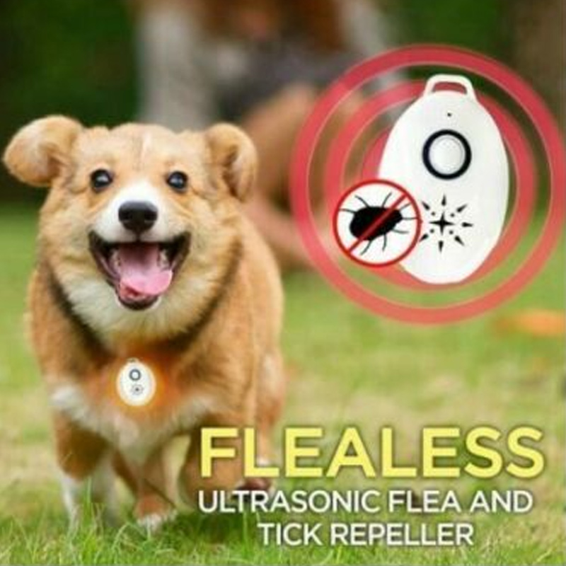 USB Flealess Ultrasonic Flea Tick Repeller Pets Supplies HKS99