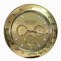 Luxury Gold Wall Clock Metal Luminous Modern Design Large Clock Mechanism Watch Wall Home Decor Calendar Duvar Saati Gift L061