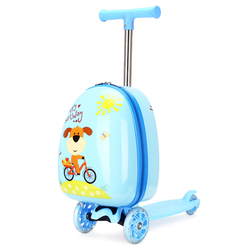Kinder roller koffer lagerung trolley gepäck skateboard für kinder tragen-auf kinder gepäck fahrt trolley spielzeug auf räder