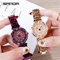 Розовое золото алмаз маленькие часы дизайнерские Роскошные брендовые наручные часы для женщин дропшиппинг 2019 водонепроницаемые кварцевые...