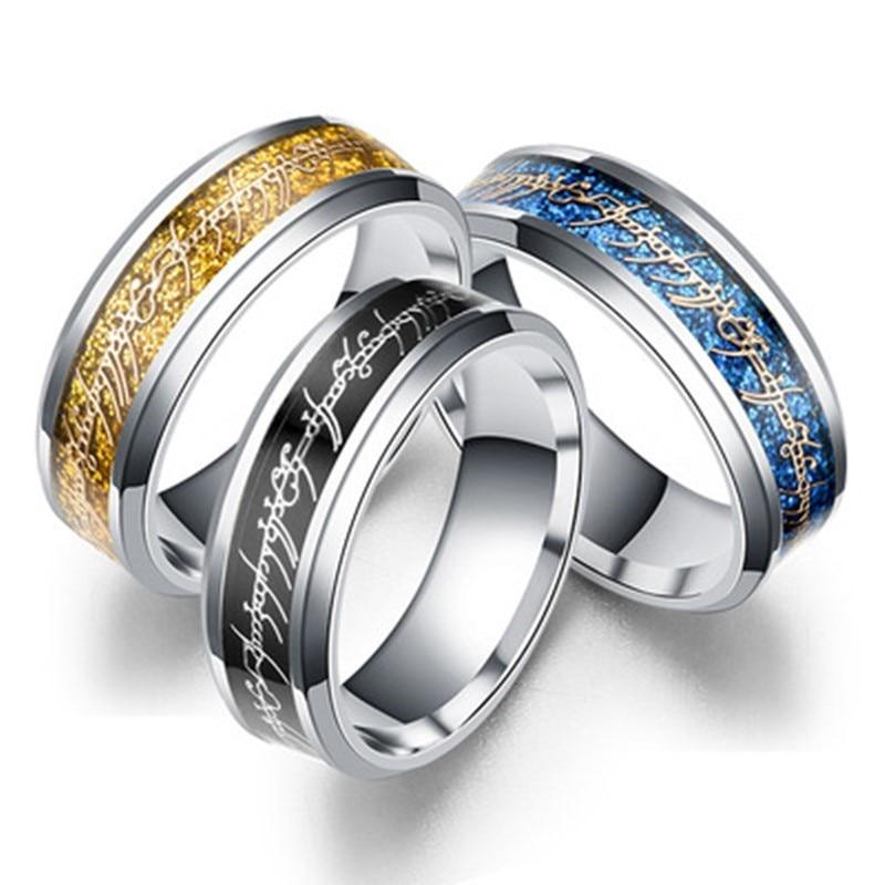 HIYONG Hobbit Letters Midi Campers Enl Ring van Power Goud de lord Ring Liefhebbers Vrouwen Mannen Modus-sieraden Gratis verzending