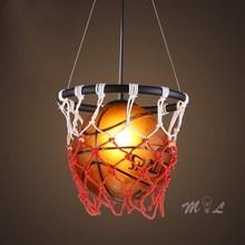 Luces colgantes acrílicas de baloncesto con cesta lámpara colgante hogar Deco Bar Café tienda suspensión sala de estar dormitorio lámparas