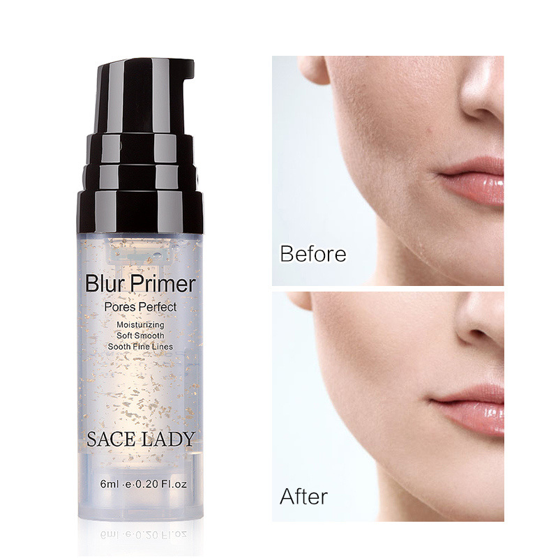 SACE LADY Gold Foil Moisturizing 6 Ml Before Makeup With Zero Pore, Smooth Pore And Fine Line Primer Oil