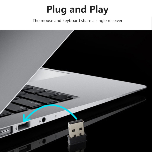 2.4G Wireless Connection Gaming Keyboard & Mouse Set Splashproof Auto Sleep Long Battery Life for Office Home computer gamer 6
