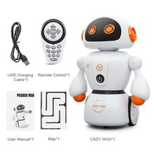 Intelligent Cady Wigi JJRC R6 Remote Control Programmable Dancing USB RC Robot Early Educational Toy for Kids(China)
