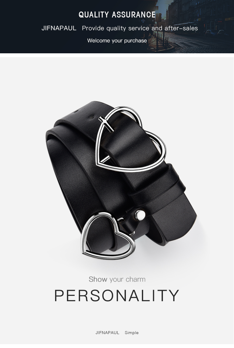 H9d6d3b7c234f4ab18e56ae58f6c46df2O - JIFANPAUL New sweetheart buckle with adjustable ladies luxury brand cute Heart-shaped thin belt high quality punk fashion belts