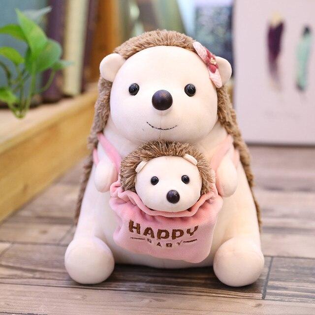 25cm mother and son soft Manis pentadactyl dolls stuffed wild animal pangolin hedgehog panda polar bear  and kangaroo plush toys