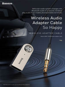 Baseus Bluetooth Dongle Receiver Audio-Transmitter Car-Adapter-Cable Aux Jack
