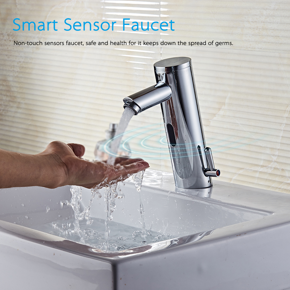 Kitchen Faucet Automatic Sensor Touchless Water Induction Sink Faucet Noble Copper Kitchen Tap Bathroom Fixtures Hot&Cold Faucet