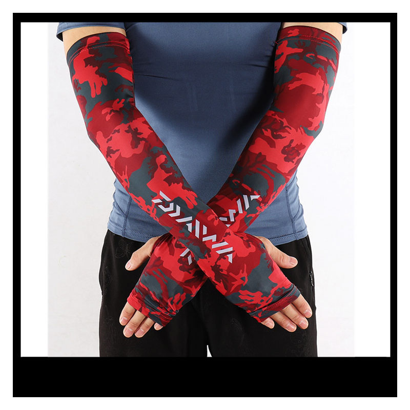 Summer Fishing Arm Sleeves UV Sun Protection Fly Fishing Running Cycling Driving Ice Cooling Fingerless Glove Arm Warmers Cover