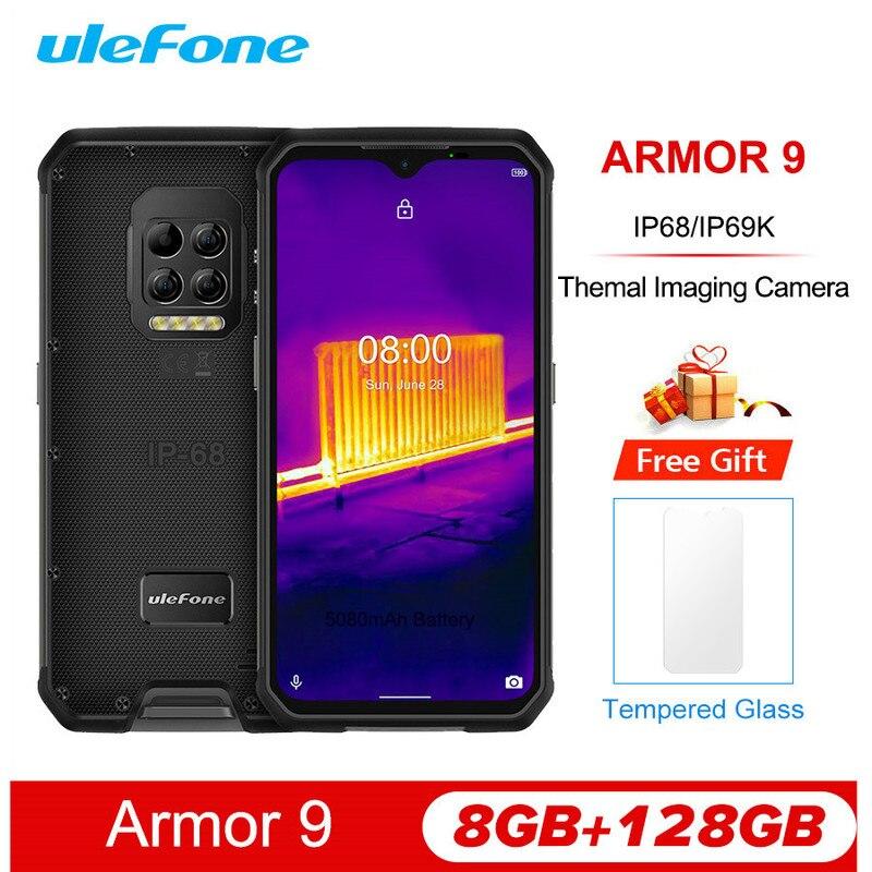 Смартфон Ulefone Armor 9, 6,3 дюйма, 8 + 128 ГБ, IP68/IP69K, Android 10, Helio P90, 6600 мА · ч, 64 мп, NFC