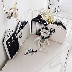 4pcs Baby Bed Bumpers for Newborn Crib Protection Around Cushion Cot Pillows Baby Room Decoration Baby Bedding Bumper