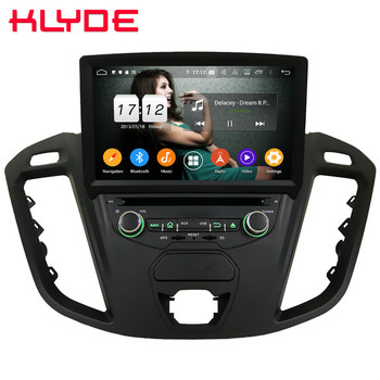 Klyde 4G WIFI IPS Android 9 Octa Core 4GB+64GB BT Car DVD Player Radio Stereo GPS Glonass For Ford Transit Custom 2013-2018