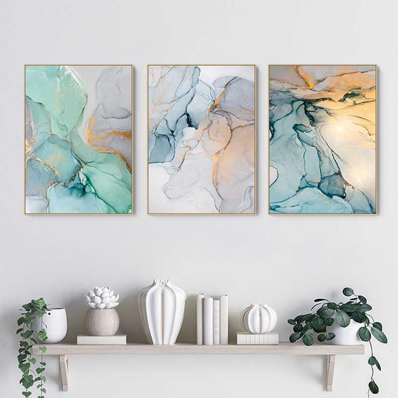 Moderne simplicité de toile abstraite peintures modulaires photos mur Art toile pour salon décoration pas de cadre nouveau