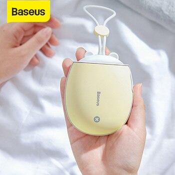 Baseus Mini calentador de manos usb para manos portátil recargable Handy Heater Pocket 4000 mAh Powerbank Luz Nocturna hogar viaje calefacción