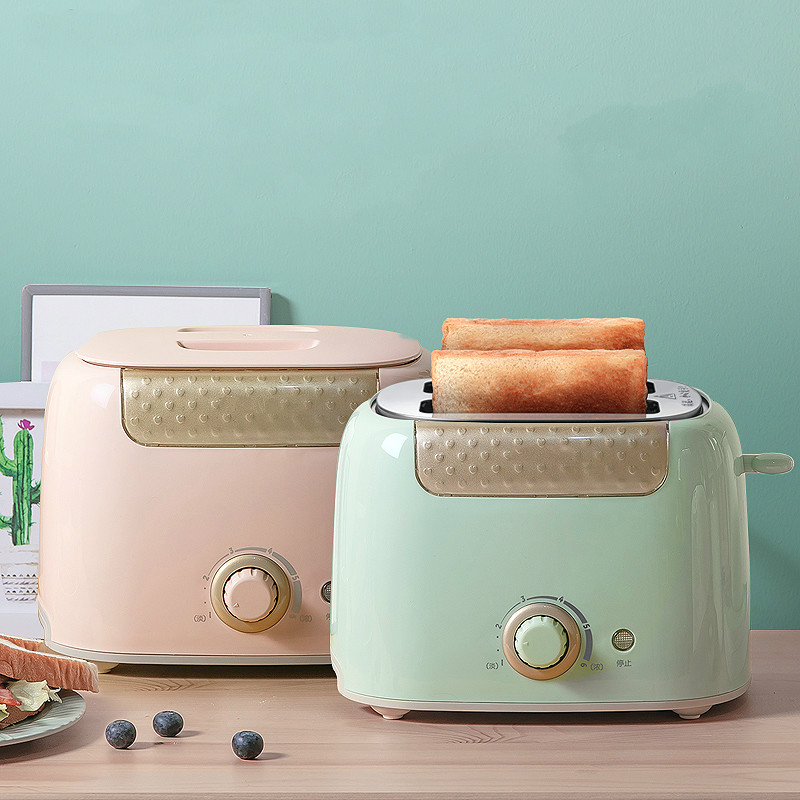 Household Toaster With 2 Slices Slot Automatic Warm Multifunctional Breakfast Bread Baking Machine 680W Toast Maker EU US