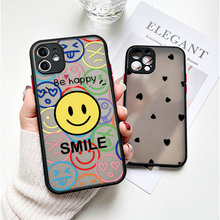 For iPhone XR X XS Max Case Smile Face Back Cover iPhone 11 12 Pro Max Mini 6 6S 7 8 Plus SE 2020 Phone Bumper Lens Protective
