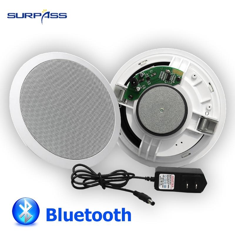 Встроенный цифровой усилитель класса D потолочный динамик 15 Вт 6 дюймов Bluetooth Активный потолочный динамик для воспроизведения музыки в помещении|Встраиваемые АС|   | АлиЭкспресс