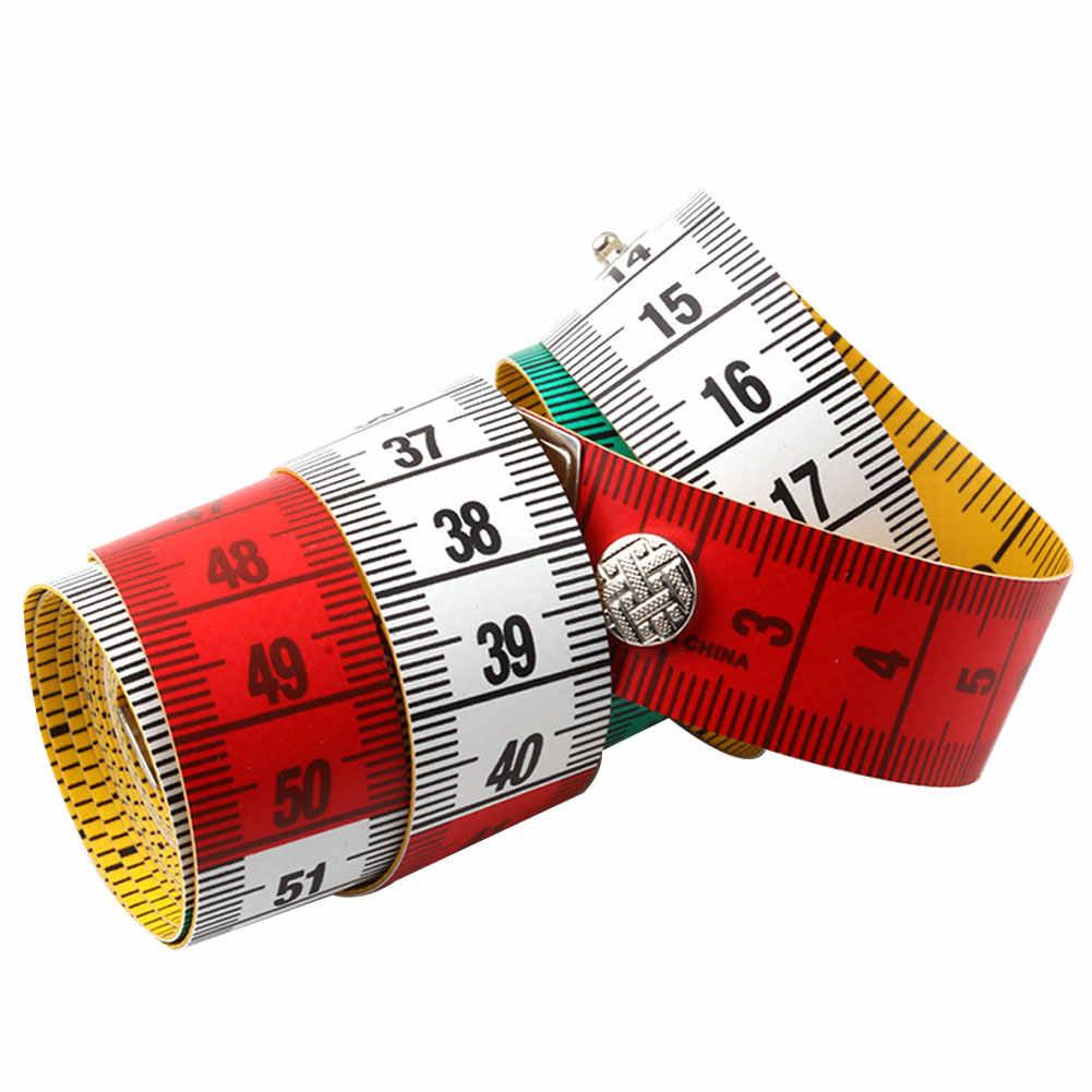 1.5 メートル/60 インチのフラット測定定規ソフトテープテーラー布縫製ツールセンチメートル/インチユニット測定定規