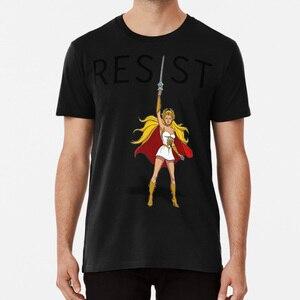 She - Ra Says сопротивляется футболке Shera She Ra Heman он человек не сопротивляется мусульманскому запрещению мусульманские женщины марш импичмент Тр...