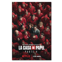 La casa de papel Poster Prints 2020 Movie TV Season 4 Money Heist Wall Art Pictures House of Paper Canvas Posters(China)