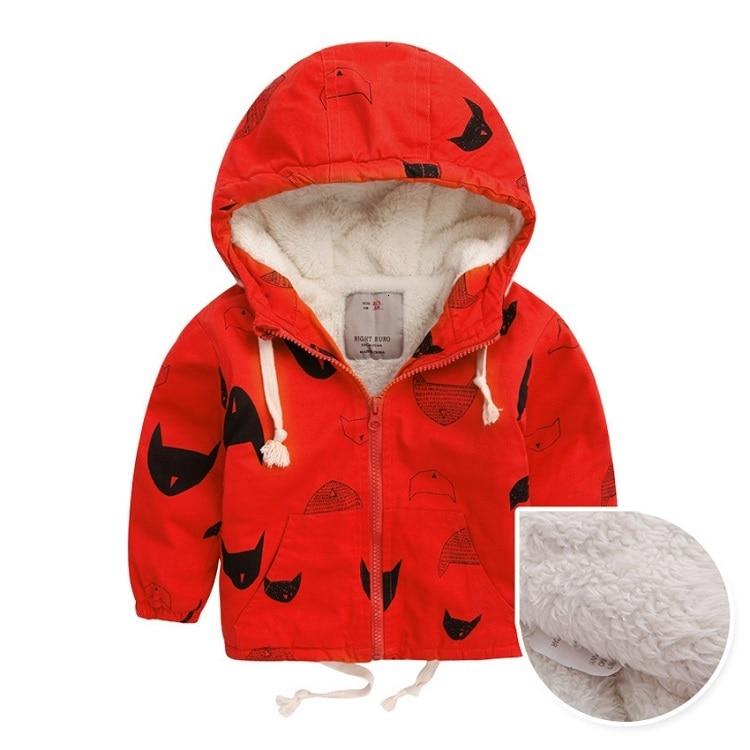 Benemaker Winter Fleece Jackets For Boy Trench Children's Clothing 2-10Y Hooded Warm Outerwear Windbreaker Baby Kids Coats JH019 7