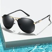 Clássico óculos de sol polarizados design da marca homem mulher metal condução óculos de sol uv400 óculos de sol