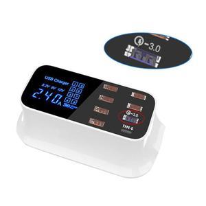 Image 5 - 8 portas led display usb carregador para android iphone adaptador telefone tablet carregador rápido para xiaomi huawei samsung