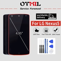 "4.95 ""otmil para lg nexus 5 display lcd tela de toque com quadro digitador para lg nexus 4 display lcd para lg e960 d820 d821|LCDs de celular| |  -"