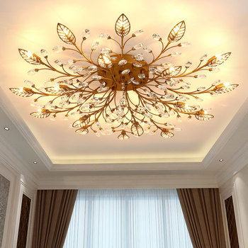 Modern Minimalist LED Lusters Crystal Chandelier Indoor Lighting Ceiling Chandeliers Cristal Fixture Lights Luxury Lamp