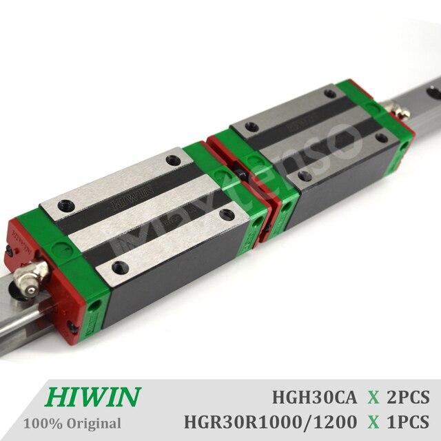 Hiwin hgh30ca 1000mm 1200mm conjunto de trilho de guia linear com ballscrew blocos hgr30 peças da máquina cnc rolamento linear peças cnc