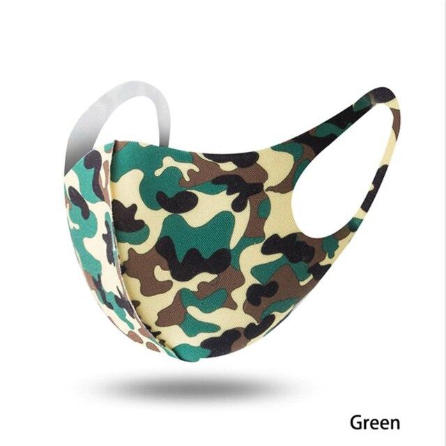1PCS Unisex Washable Reusable Anti-dust Mouth Face Masks Camouflage Sponge Mask Anti Cold Mask Humanized Design 4