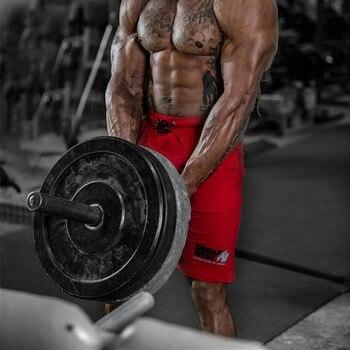 Men Running Sport Cotton Shorts Gym Fitness Workout Training Sportswear Male Short Pants Knee Length Beach Sweatpants Bottoms 5