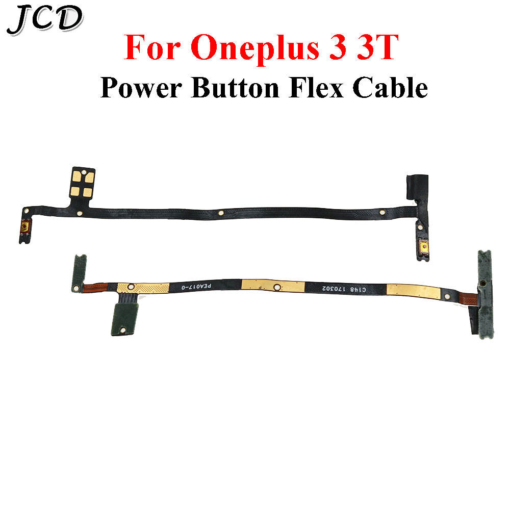 JCD Side Key Power Volume Button Flex Cable Replacement For OnePlus 3 3T A3000 A3003 MobilePhone Accessories