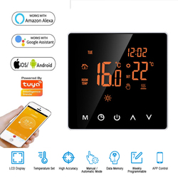 Minco Tuya WiFi Smart Thermostat, Electric floor Heating Water/Gas Boiler Remote Controller, Mirror Glass Screen