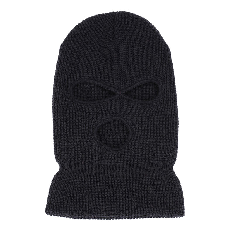 Outdoor Balaclavas Full Face Cover Mask Robber Cool Knitted Beanies For Men Head Neck Balaclava Cycling Bike Caps   FEA889