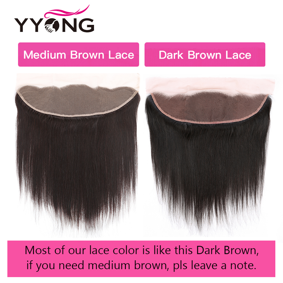 YYong 13x4 Lace Frontal With Bundles  Straight Bundles With Frontal  Ear To Ear Lace Frontal With Bundles 5