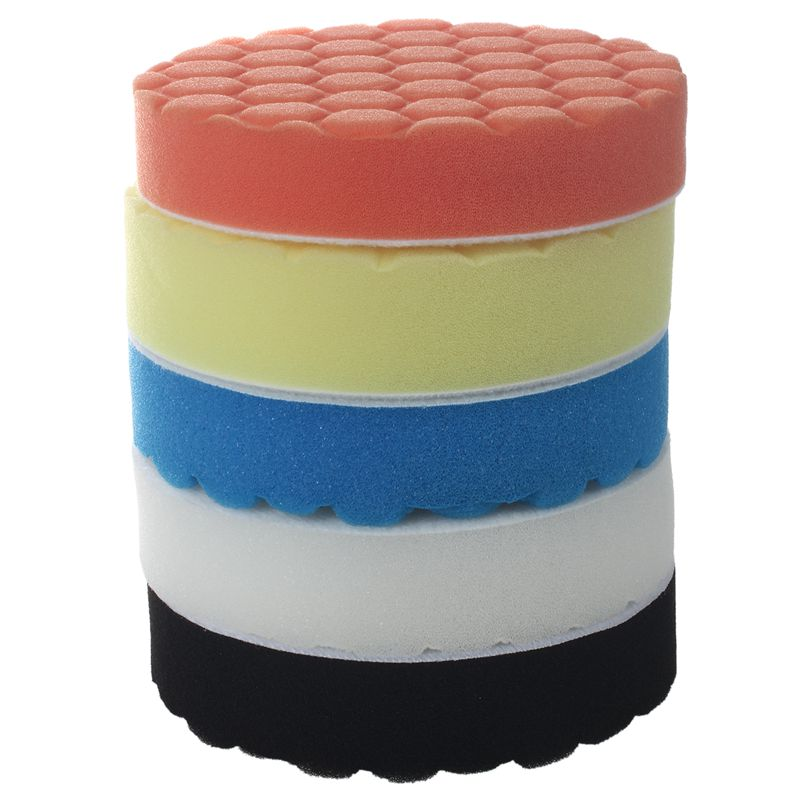 NEW-5inch (125mm) Polishing Pad Kit For Car Polisher Pack Of 5Pcs