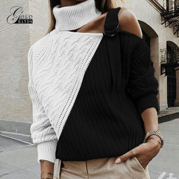 Gold Hands Autumn Winter turtleneck sweater street Elasticity Knitwear casual brand Sweater Women Fashion long sleeve Pullovers
