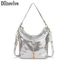 DIINOVIVO Women Leather Handbags Luxury Designer Shoulder Crossbody Zipper Bag Ladies Hand Female Messenger WHDV1252