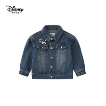 Disney Childrens Clothing Boy Cowboy Coat 2019 New Autumn Children Mickey Jacket Baby Kids  Denim