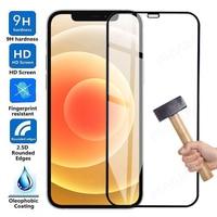 9D Volle Schutz Glas Für Apple iPhone 12 mini 11 Pro Max X XS XR Screen Protector Film Für iphone 7 8 6 6S Plus 5S SE Glas