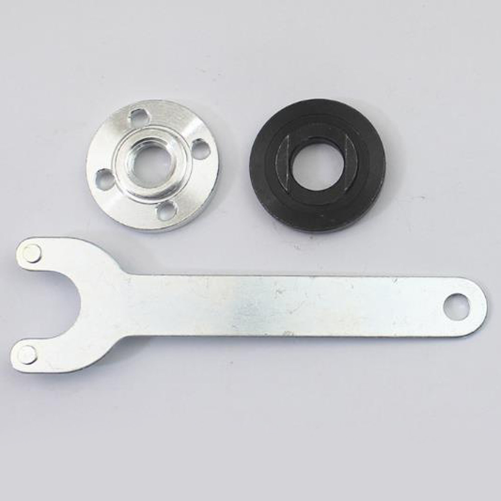 Hot Sale High Quality Metal Angle Grinder Flange Spanner Wrench Kit For Grinder Accessories W/ Lock Nut Tool