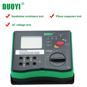 DUOYI DY5103A Insulation Resistance Tester Earth Ground Resistance Tester Digital Voltmeter Multimeter Megger Insulation Tester