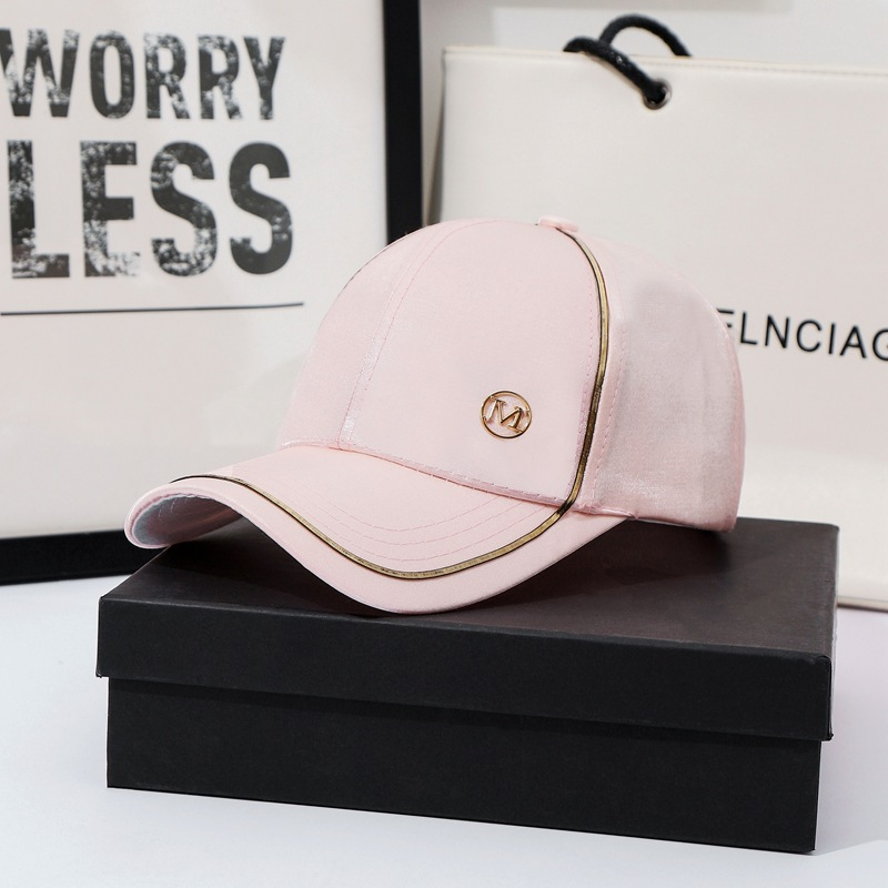 New Women Baseball Cap Female Solid Color Outdoor Adjustable White Pink Black Embroidered Women's Hats Summer Letter MD Sunhat02